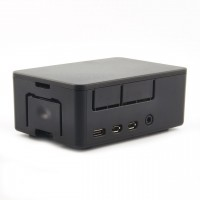 UNIPICASE - Visoko kućište za Raspberry Pi 4 Model B, crno (UNIPICASE for Raspberry Pi 4 Model B, black)