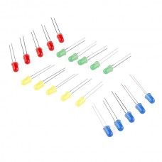 LED diode (pakovanje od 20 komada) (LED - Assorted (20 pack)), COM-12062