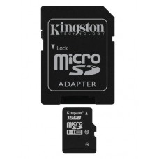 Kingston Micro SD flaš kartica 16GB Klasa 10 sa SD adapterom