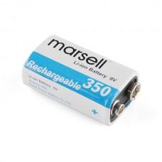 9V Li-ion punjiva baterija (9V Li-ion Rechargeable Battery - 350mAh), PRT-10053