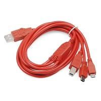 Sparkfun Kerber USB kabl za napajanje (SparkFun Cerberus USB Cable - 6ft), CAB-11515