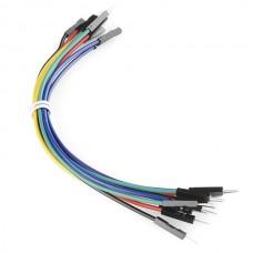 """Žičani kratkospojnik (Jumper Wires Premium 6"""" M/M - 20 AWG (10 Pack)), PRT-11709"""