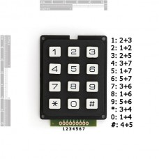 Tastaura - 12 tipki (Keypad - 12 Button), COM-08653