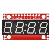 SparkFun 7-segmentni serijski displej - crveni (SparkFun 7-Segment Serial Display - Red, COM-11441