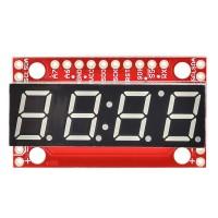 SparkFun 7-segmentni serijski displej - crveni (SparkFun 7-Segment Serial Display - Red, COM-11441