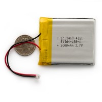 Polymer Lithium Ion Battery - 2000mAh, PRT-08483