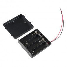 Držač baterija 4xAA sa poklopcem i prekidačem (Battery Holder 4xAA with Cover and Switch), PRT-12083