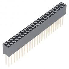 Konektor - 2x23 pinski ženski (Stackable Header - 2x23 Pin Female), PRT-12790